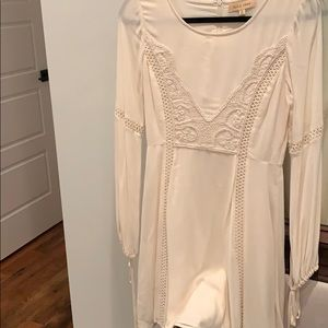 Black swan cream dress